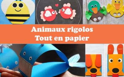 Des animaux rigolos tout en papier