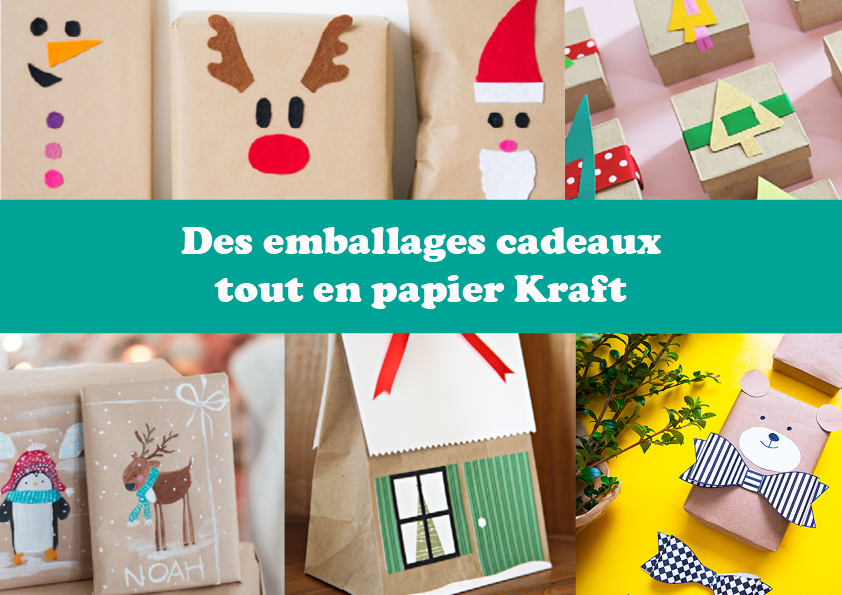 Des emballages cadeaux tout en papier Kraft