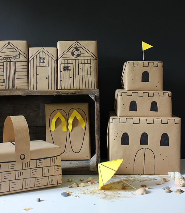 171218-papier-cadeau-plage-chateau-kraft-noel