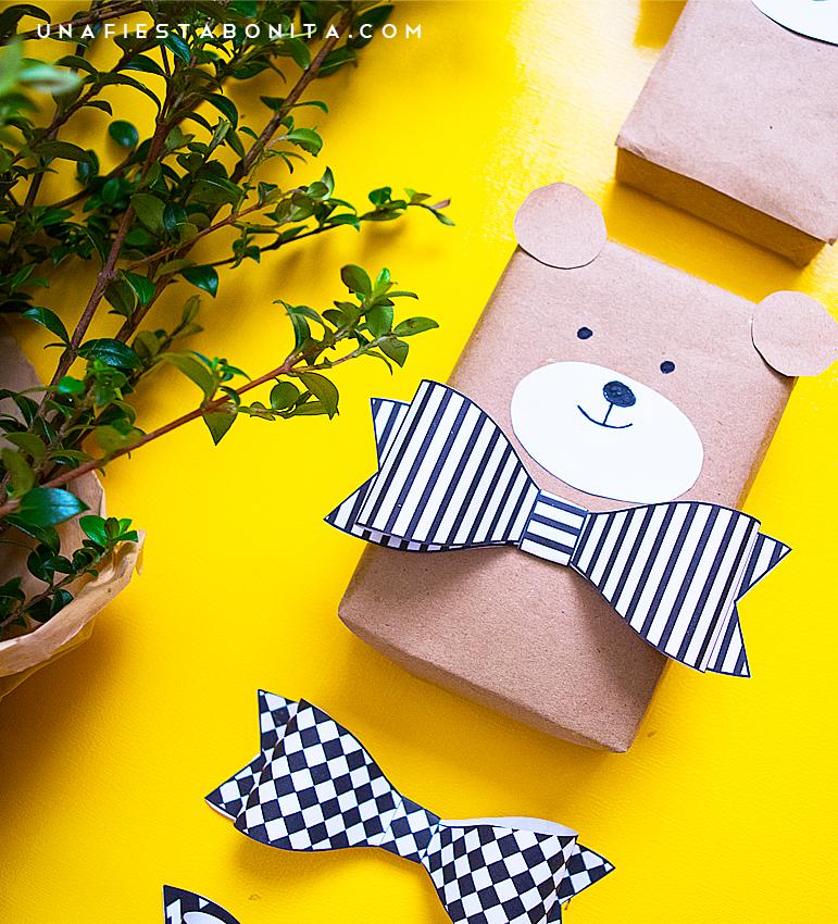 171218-paquet-cadeau-kraft-ourson-enfants-papier