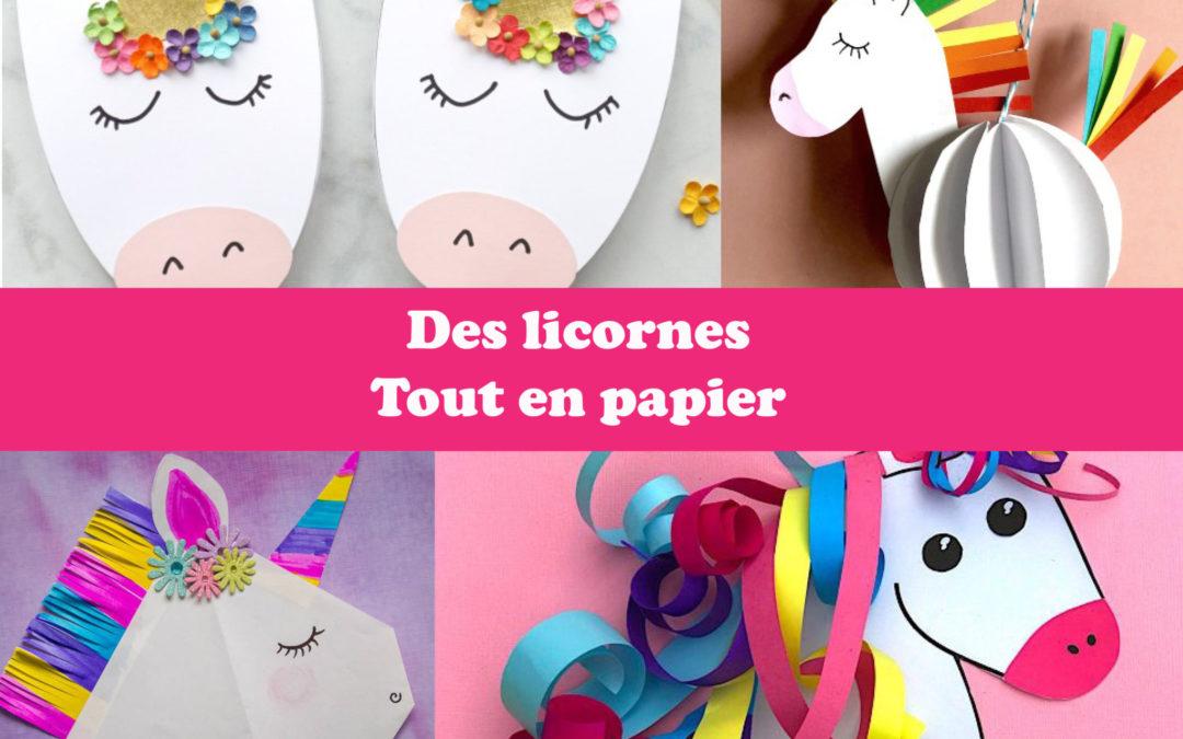 Des licornes tout en papier