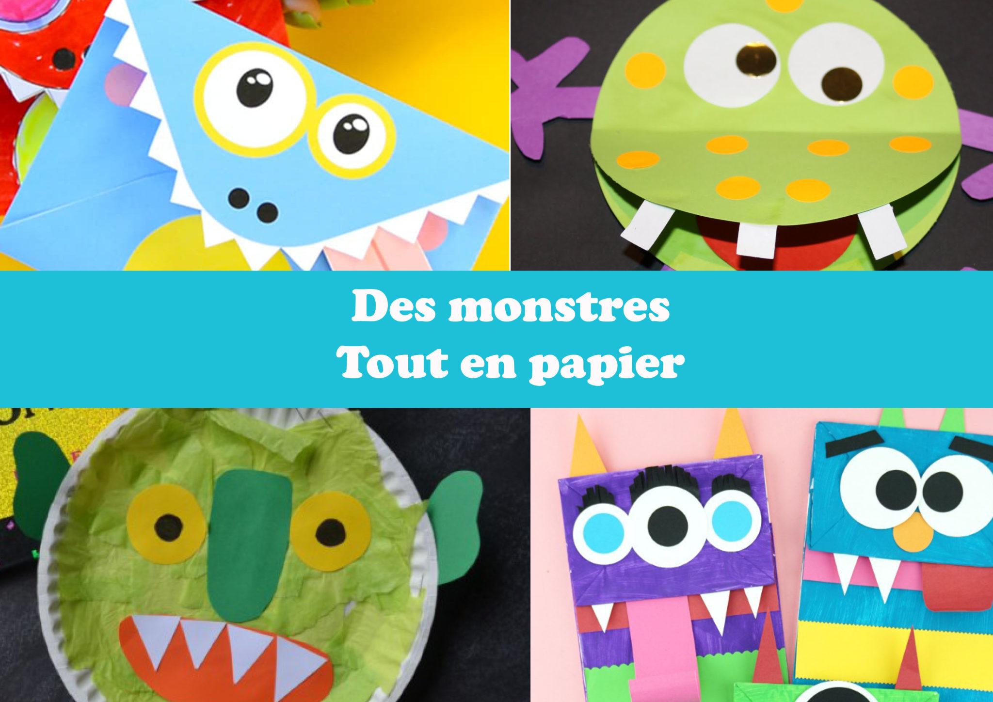Des monstres tout en papier