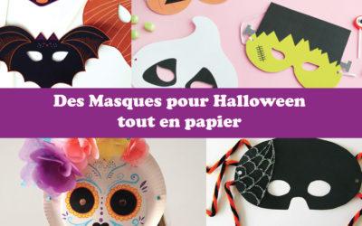 Des masques pour Halloween tout en papier