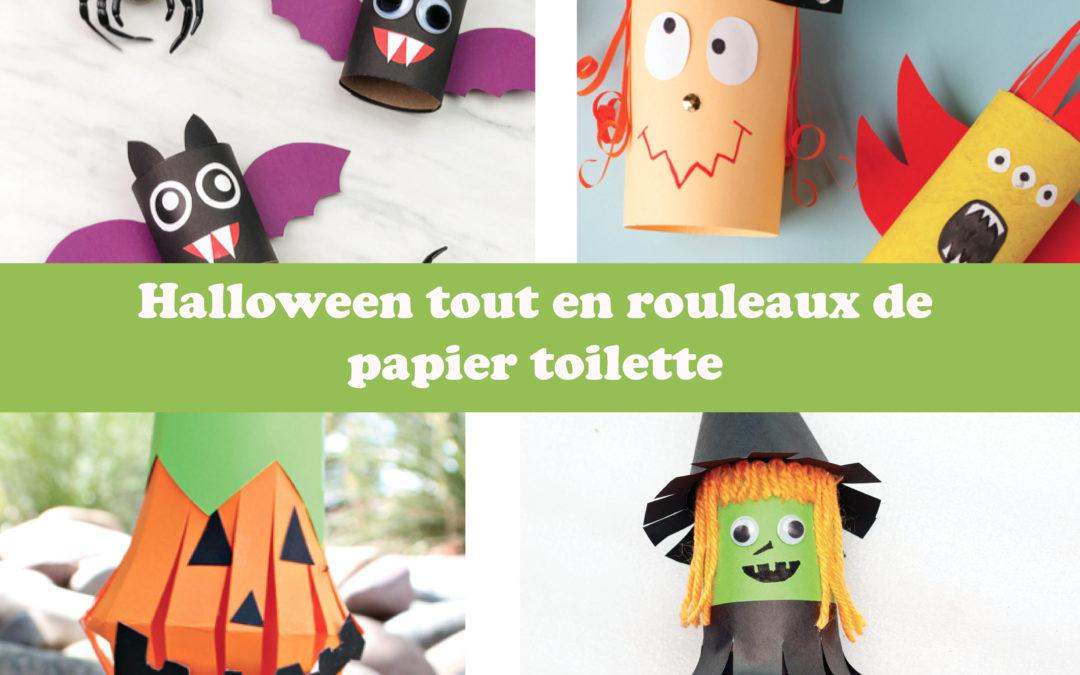 Halloween tout en rouleaux de papier toilette