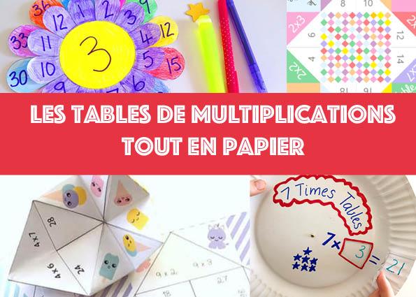 Apprendre ses tables de multiplications tout en papier